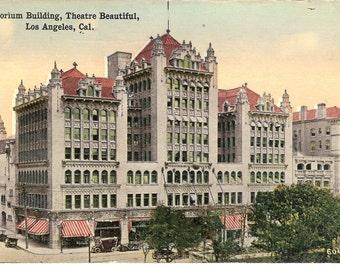 Vintage Postcard...California, Los Angeles- Auditorium Buidling, Theatre Beautiful ....Unused...no. CA0014