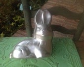Vintage Wilton Bunny Mold, Vintage Metal Bunny Cake Mold, Vintage Crafting Supplies