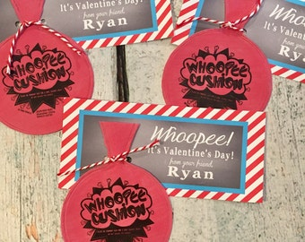 INSTANT DOWNLOAD Whoopee Cushion Valentineu0027s Day Treat Tags Cards