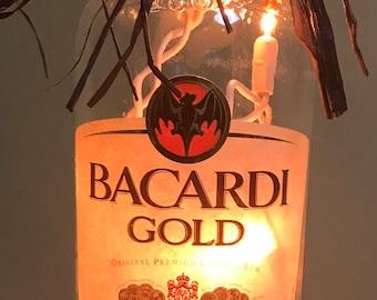 Lighted Bottle Bacardi Gold