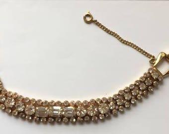 Vintage Exquisite Rhinestone Bracelet