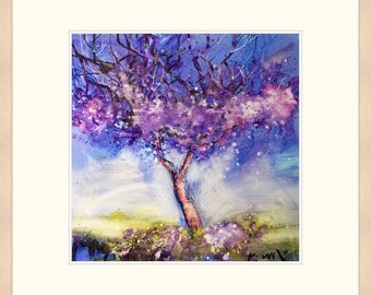 Art print limited edition impressionist wall decor jacaranda prints Australian landscape paintings home decor modern kitchen living room art