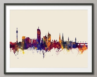 Vienna Skyline, Vienna Austria Cityscape Art Print (2693)