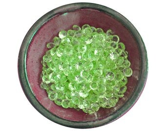Shop Closing Sale! 12mm Light Green Beads -- 150 Loose Scatter Beads