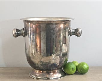 Vintage Champagne Bucket Wine Chiller Silver Plated Large Ice Bucket Barware