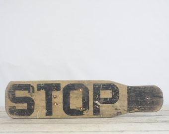 Vintage Wood Stop Sign School Bus Stop Sign?