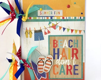 Summer Mini Album Kit or Premade Scrapbook Album Beach Vacation PreOrder