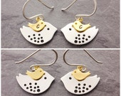Mother Daughter Earrings, bird earrings, flying bird earrings, baby shower gift, gifts for new mom, mothers jewelry, gifts for mom, N2