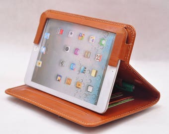 ipad pro 12.9 case ipad pro 12.9 folio case genuine handmade ipad pro leather case Ipad Leather folio ipad Case Leather Tablet Case in brown