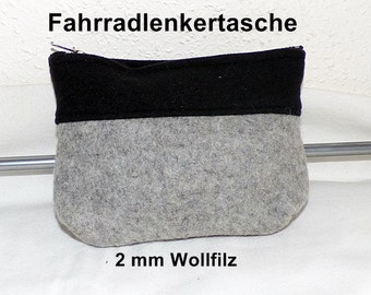 Wool Felt - Bike Bag with Softshell