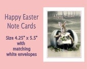 Easter Cards Set of 6, April,  Vintage Rabbit, Easter Bunny, Anthropomorphic, Altered Photo, Photo Collage, Rabbit Card, Unique Card