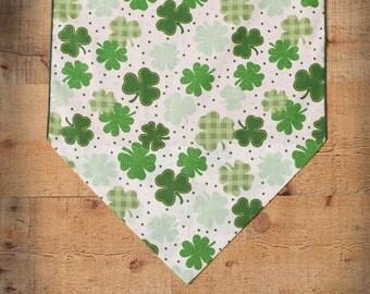 """St. Patrick's Day Table Runner, Shamrock Table Runner, 36"""" St. Pat's Table Runner, Small Table Runner, Irish Home Decor"""