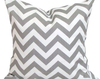 GRAY OUTDOOR PILLOW Sale.14 inch Decorative Pillow Cover.Chevron.ZigZag.Indoor Outdoor Pillow.Throw Pillow.Toss Pillow.Outdoor .Gray.cm