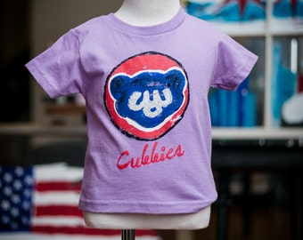 Chicago Cubs Toddler lilac shirt