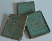 Mini Green Books Classic English Book Set Little Leather Library Books Dr. Jekyll Book English Poem Book Sherlock Holmes Small Green Books