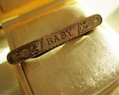 "SILVER Victorian ""BABY"" Pin, 1 1/4 inches long"