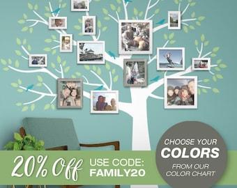 Family Tree Wall Decal - Gallery Wall Art - Family Photo Art Wall