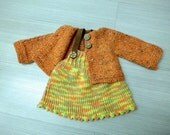 XMAS SALE -   Waldorf doll sweater and skirt  for 18 - 19  inch doll