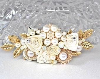 Gold Bridal Comb- Bridal Hair Accessories- Gold Hairpiece- Wedding Hair Accessories- Wedding Comb- Gold Bridal Hairpiece- Gold Hair Comb