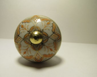 Peach with Gold Accent Wine Bottle Stopper