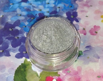Perfect Storm - sparkly silver mineral eyeshadow 5 gram jar VEGAN OOTBS