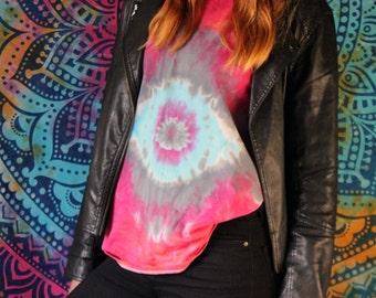 Tie Dyed T-Shirt - Hippie Top - Third Eye Design