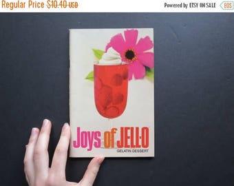 "SPRING SALE Vintage ""Joys of Jello"" Book // Retro Jello Cookbook Recipe Guide Mid Century Quirky Gelatin Desserts and Meals Paperback Editio"