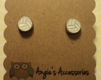 Volleyball stud earrings