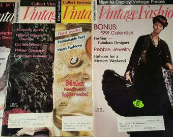 Four VintageFashions Magazines
