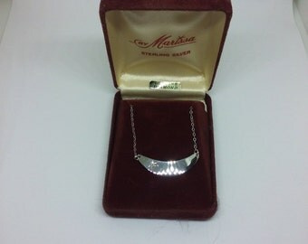 Sterling Silver Diamond Necklace  - Engravable!