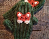 Black Friday Sale Fox Mittens, Crochet Animal Mittens, Children's Mittens, Made to Order