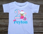 SALE Personalized Birthday Candy Lollipop Sweets Cupcake Party Shirt T-shirt Bodysuit 1st 2nd 3rd 4th... Shirt in White, Grey, Blue, Pink