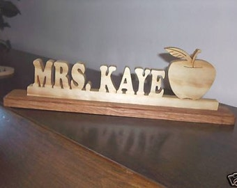 WOOD NAMES:Personalized Teacher Desk Name Plates