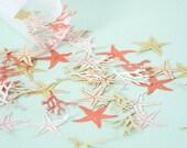 Starfish and Coral Confetti - Mermaid Confetti - Wedding Confetti - Table Confetti - Under the Sea Party - Beach Wedding - Wedding Decor