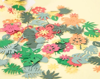 Luau Party Table Confetti - Hawaiian Party Decorations - Tropical Party Decoration -  Jungle Party confetti - Paper Flower Confetti