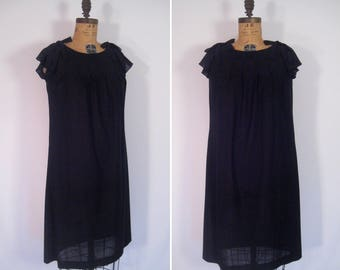 1960s sheer mod noir party dress• 60s black swiss dot dress • vintage the nearness of you dress