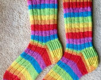 Hand Knit Wool Socks - KnitPicks Felici yarn (S-216)