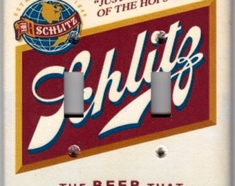 Schlitz Beer / Milwaukee Beer Switchplate - Single size or Double size