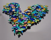 Dichroic Glass Tiles, Mosaic Bits & Pieces, Tiny Mosaic Tiles in Assorted Shapes, Itsy Bitsy Mosaic Tiles
