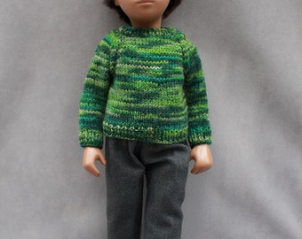 Smart for Winter, Hand knitted Outfit for Vintage Gregor Sasha Doll
