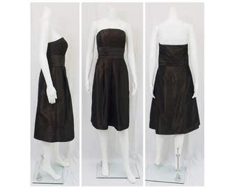 ANN TAYLOR Strapless Taffeta Dress Size 8