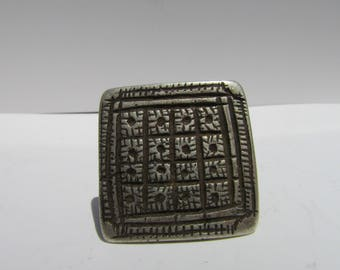 Bedouin Tribal Yemen Ring Etched detail handmade vintage jewelry