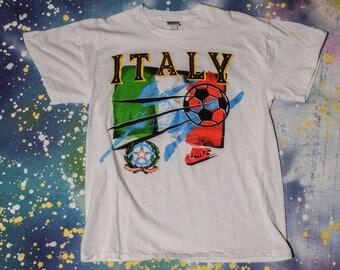NIKE ITALY Soccer T-Shirt Size Xl