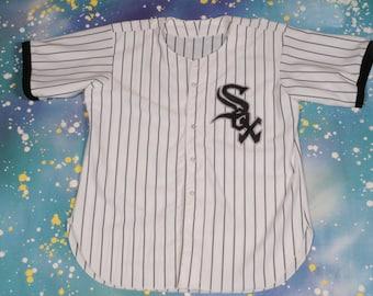 WHITE SOX Baseball Jersey Size L
