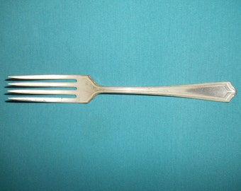 """One (1), 7 1/2"""", Silver Plated, Dinner Fork, from 1881 Rogers/Oneida, in the 1915 Salem Pattern."""
