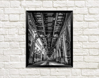 "Chicago Photography Print ""Under the El Tracks"" urban photo"