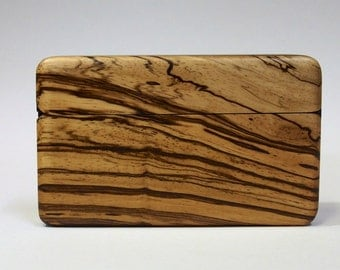 Wood Wallet and Business Card Case Zebrawood