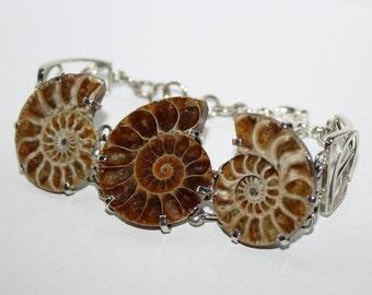 Ammonite bracelet, FREE SHIPPING
