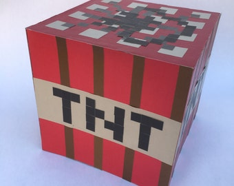 TNT tabletop decoration in Minecraft Style