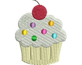 Mini Cupcake Machine Embroidery Design - Instant Download